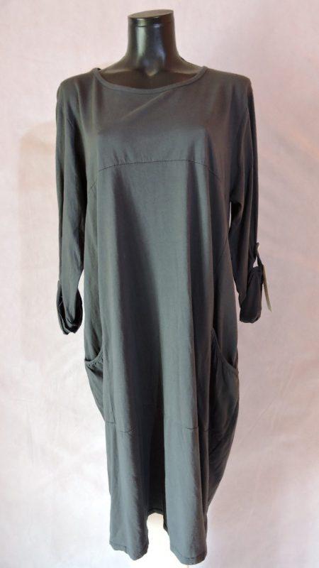 Pamučna haljina sa džepovima