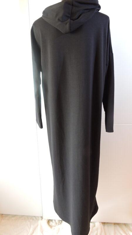Haljina sa kapuljačom - crna