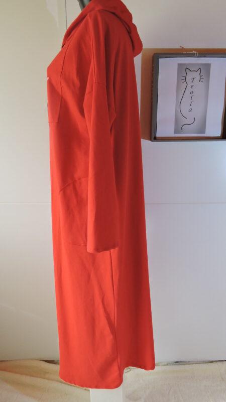 Haljina sa kapuljačom - crvena