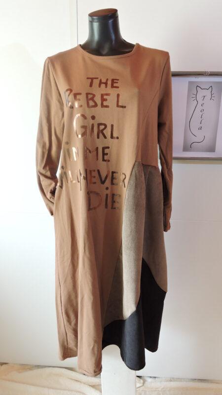 Haljina trobojna - smeđa