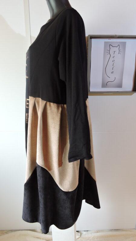 Haljina trobojna - crna