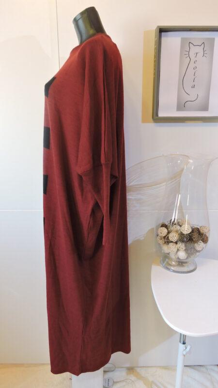 Haljina - tamno crvena